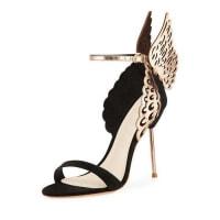 Sophia WebsterEvangeline Angel Wing Sandal, Black/Rose Gold