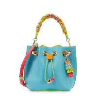 Sophia WebsterRomy Mini Leather Bucket Bag, Aqua