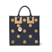 Sophie HulmeAlbion Square Embellished Leather Tote - Navy