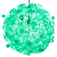 SoudaBubble ChandelierBlack Cord - Green Plastic