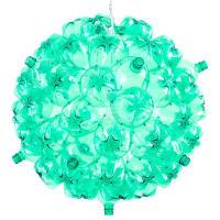 SoudaBubble ChandelierWhite Cord - Green Plastic