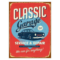 Soundslike HomeVintage Classic Garage Canvas Print