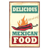 Soundslike HomeVintage Mexican Food Canvas Print