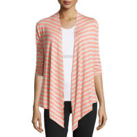 SoybuMeryl Half-Sleeve Wrap Striped Sweater, Barcelona