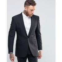 Spencer Hartby Nick Hart Skinny SB 1 Suit Jacket in Flannel - Black