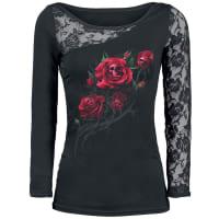 SpiralDeath Rose Girl-Longsleeve schwarz