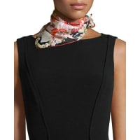 St. PieceChloris Floral-Print Square Scarf, Red