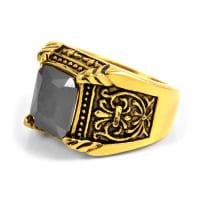 SteelczStålring Greek Diamond Guldfärgad