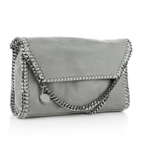 Stella McCartneyStella Mc Cartney Umhängetaschen - Falabella Shaggy Deer Mini Shoulder Light Grey - in grau aus Kunstleder für Damen