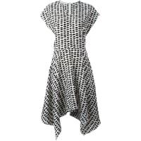 Stella McCartneyVestido de seda assimétrico estampado
