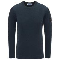 Stone IslandR-Neck Pullover dunkelgrün