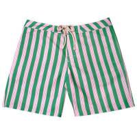 Strong BoaltCabana Stripe Swim TrunkGreen And Pink - Small