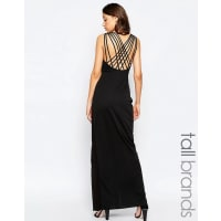 Studio 75Studio 75 Tall Manna Maxi Dress With Wrap Front And Strappy Back - Black