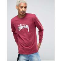 StüssyLong Sleeve T-Shirt With Large Logo - Pink
