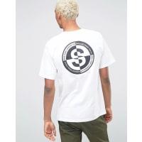 StüssyT-Shirt With World Back Print - White