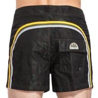Sundekfixed waistband mid-length swim shorts