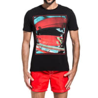 Sundekt-shirt with surfboards print