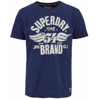 SuperdryT-Shirt »54 BRAND COLD DYE TEE« blau