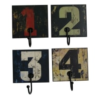 SuperStudioCPHNumbers Decorative Hangers September 4 Wood And Metal