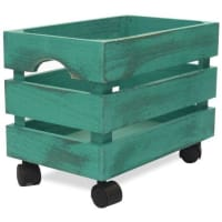 SuperStudioCPHWooden Box Albox Wheels Turquoise Green 820 Gr
