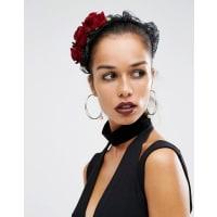 Suzywan DeluxeSuzywan - Halloween-Haarband mit Spitze und Blumen - Schwarz