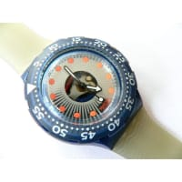 SwatchSDN107 Womens Blue Dial Analog Quartz Watch With Plastic Strap