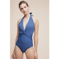 Swim by AnthropologieTwist-Front Halter One-Piece