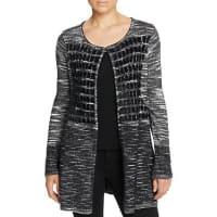 T TahariSima Textured Check Cardigan