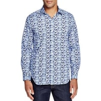 TailorbyrdTailorByrd Splatter Print Classic Fit Button-Down Shirt