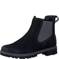 TamarisDamenschuhe 1-1-25401-27 Damen Chelsea Boots, Stiefel, Stiefeletten schwarz (BLACK), EU 36