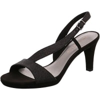 TamarisSchuhe 1-1-28336-28 bequeme Damen Sandalette, Sandalen, Sommerschuhe für modebewusste Frau, schwarz (BLACK GLAM), EU 37