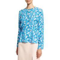 Tanya TaylorHeather Floral Silk Top, Cornflower