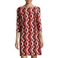 TaylorPrinted Ponte Shift Dress
