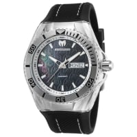 TechnomarineMens TM-115212 Cruise Monogram Quartz Black Dial Watch