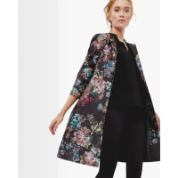 Ted BakerAntique Botanical coat Black