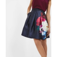 Ted BakerBlushing Bouquet pleated full skirt Navy