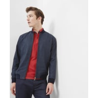 Ted BakerHerringbone bomber jacket Blue