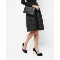 Ted BakerChecked midi skirt Black