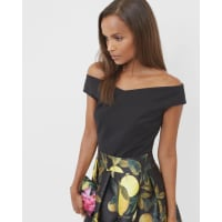 Ted BakerCropped Bardot top Black