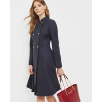 Ted BakerDouble breasted flared coat Navy