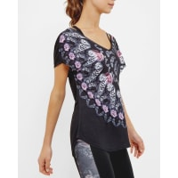 Ted BakerDynamic Butterfly cross strap T-shirt Black