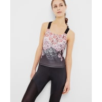 Ted BakerDynamic Butterfly fitted vest top Black
