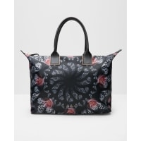 Ted BakerDynamic Butterfly print tote bag Black