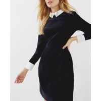 Ted BakerEmbellished collar velvet dress Blue