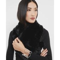 Ted BakerFaux fur scarf Black