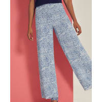 Ted BakerFish print wide-leg pants Light Blue
