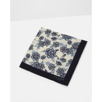 Ted BakerFloral print wool pocket square White
