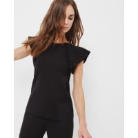 Ted BakerFrilled knitted top Black