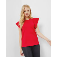 Ted BakerFrilled knitted top Bright Red