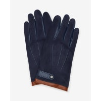 Ted BakerSuede and leather gloves Navy
